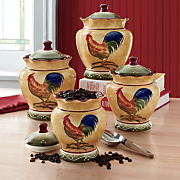 4-Piece Rooster Canister Set