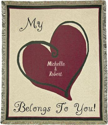 My Heart Belongs to You Personalized Throw