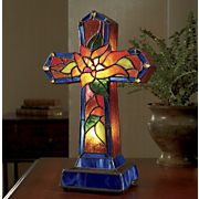 Cross Lamp, Stained...