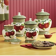 4-Piece Apple on Branch Canister Set