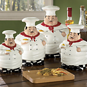 4-Piece Ceramic Chefs Canister Set