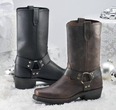 Unique's Shop Dingo Men's Leather Boot-Black-8.5