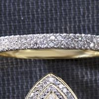 Double-Row Diamond 10K Gold Ring