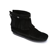 Minnetonka High Top Fringe Moccasin Boot