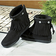 Minnetonka Moccasin Boot High Top Fringe