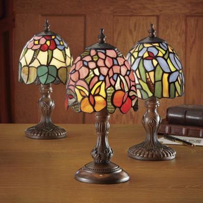 Lamps, Stained Glass 3-Piece Set