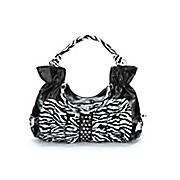 Ruffled Zebra Handbag