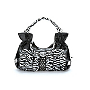 Ruffled Zebra Handbag