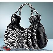 Handbag Ruffled Zebra