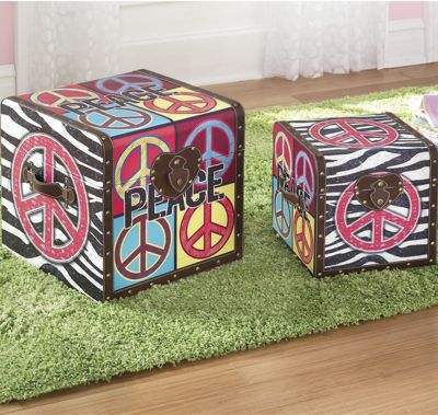 Set of 2 Peace Trunks