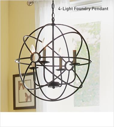 4-Light Foundry Pendant