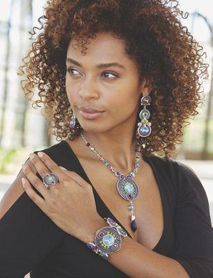 Crystal Beaded Art Deco-Style Jewelry