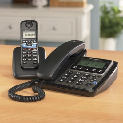 Corded/Cordless Bluetooth Phone by Motorola