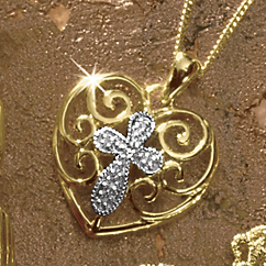 Heart with Cross Pendant