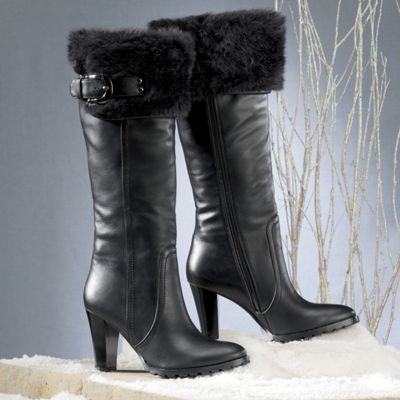 Freshica<sup class='mark'> &reg;</sup> Furry Foldover Boot by Montgomery Ward