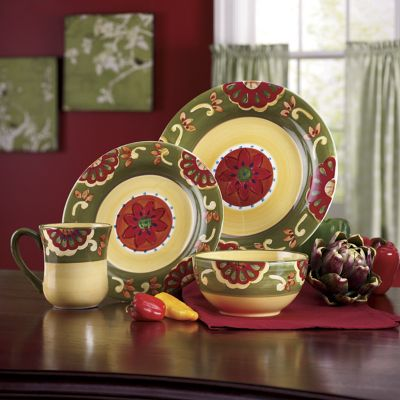 16-Piece Hand-painted Grand Baja Dinnerware Set