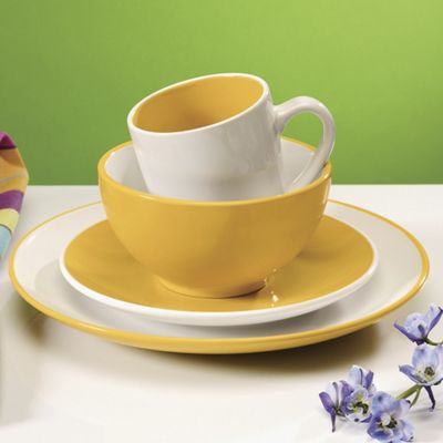 16-Piece Milano Colorburst Dinnerware Set