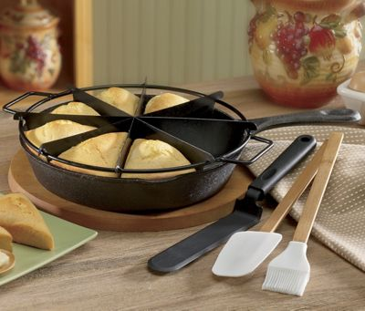 Pre-seasoned 5-Piece Cornbread/scone Set