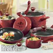 Paula Deen 15-piece Speckled Porcelain Cookware Set