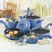 15 piece Speckled Porcelain Cookware Set By Paula Deen