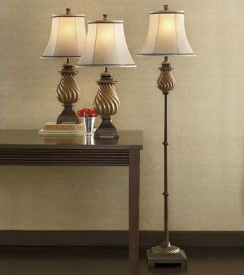 Set of 3 Swirled Base Lamps