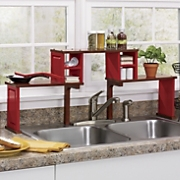 Oak Top Sink Shelf Organizer