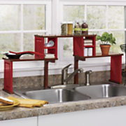 oak top sink shelf organizer