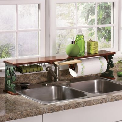 Green Leaf Sink Shelf