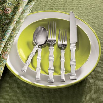 20-piece Bamboo Frost Flatware Set