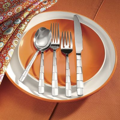 20-piece Checkerboard Frost Flatware Set