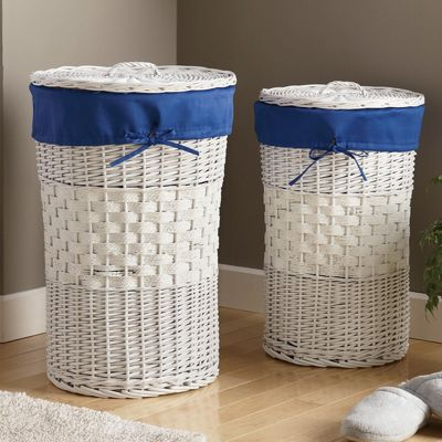 Set of 2 Wicker Hampers