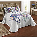 Jacobean Floral Chenille Bedspread