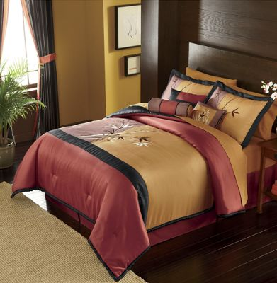 Tokyo Nights Bedding and Window Treatments