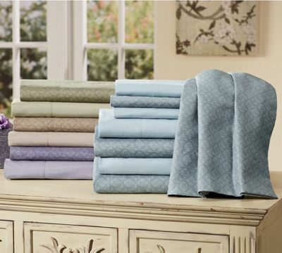2-Pack Microfiber Eileen Sheet Sets: Solid and Patterned