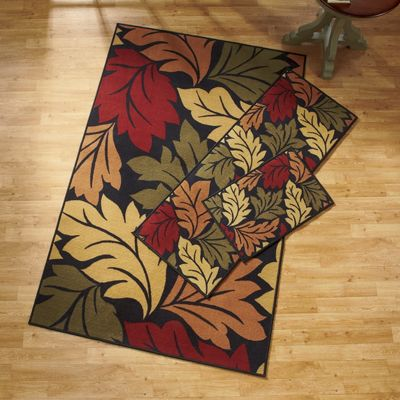 Oversized Leaf 3-Piece Rug Set