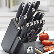 17 piece sabatier soft grip cutlery set