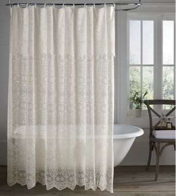 lace shower curtain with liner from home at five 451064