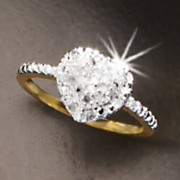 heart cluster ring