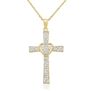 cross heart pendant