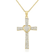 cross heart pendant