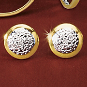 round cluster post earrings