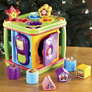 music and lights activity cube