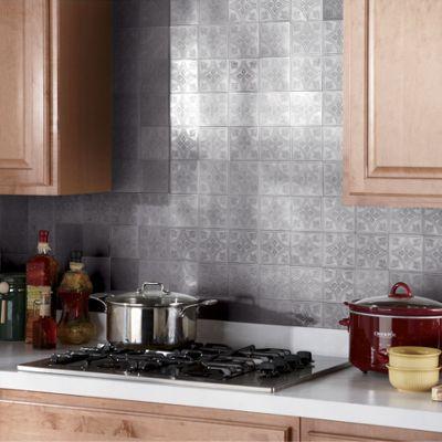 self stick metallic backsplash tiles from montgomery ward