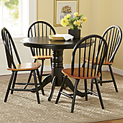Farmhouse Pedestal Table and Set of 2 Arrowback Chairs