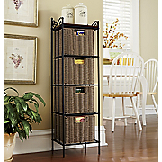 4 basket storage tower