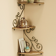 scrolled corner shelf 31