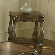 Carved Apron End Table by Montgomery Ward