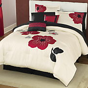Flora Appliquéd and Embroidered 10-Piece Bed Set and Window Treatments