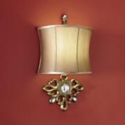 cordless golden wall lamp