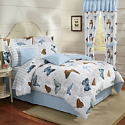 Spring Butterfly Bed Set, Pillow & Window Treatments